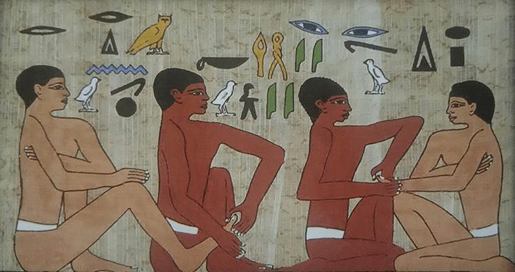 古代エジプトの外科医アンク・マホールのお墓の壁画